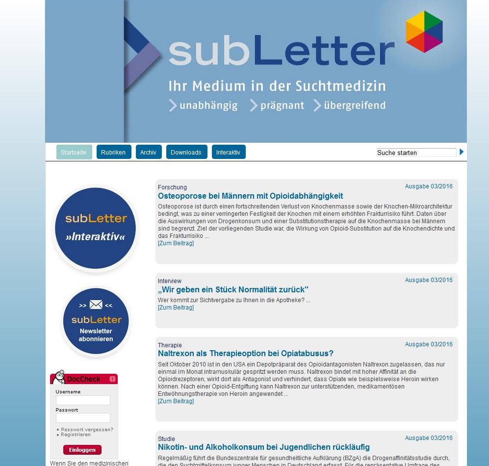 Screenshot subLetter.de
