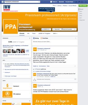 Facebook-Seite von PPA