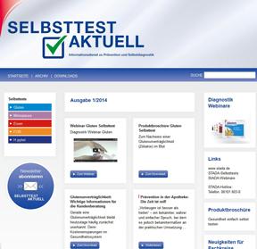 Screenshot Selbsttest-aktuell.de
